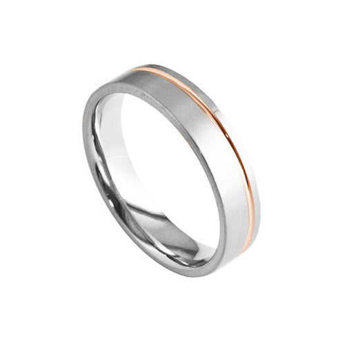 Furrer Jacot Multi Modern Mens Wedding Band Ring