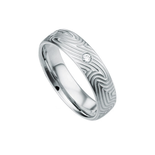 Furrer Jacot Modern Mens Diamond Wedding Band Ring