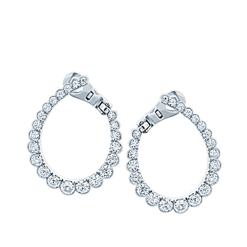 Hearts On Fire Aerial Regal Hoop Diamond Earrings