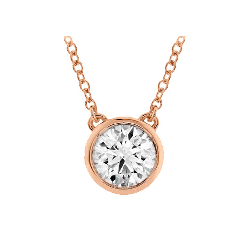 Hearts On Fire Bezel Diamond Pendant