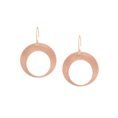 Custom Gold Open Circle Drop Earrings