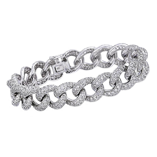 Custom Pave Diamond Cuban Bracelet