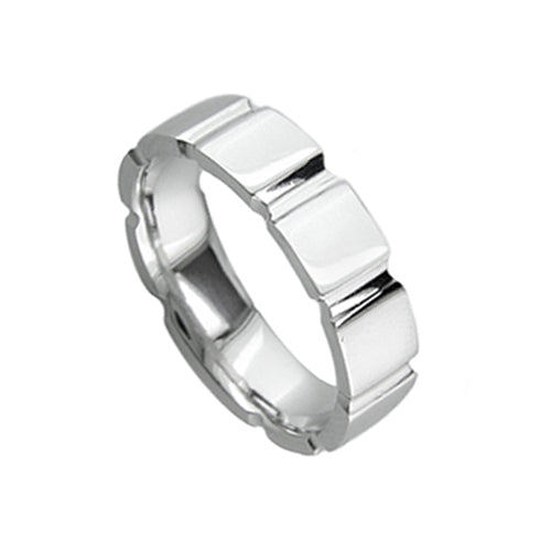 Mens Custom Classic Wedding Band Ring