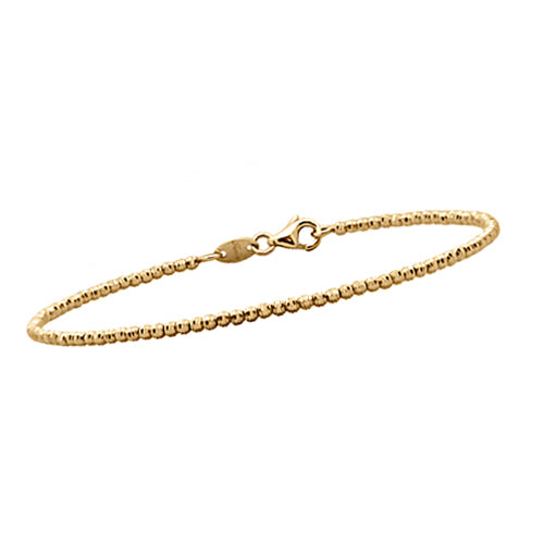 Gold Bead Stackable Bangle Bracelet