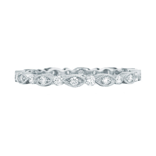 Custom Marquis Shape Diamond Eternity Wedding Band Ring