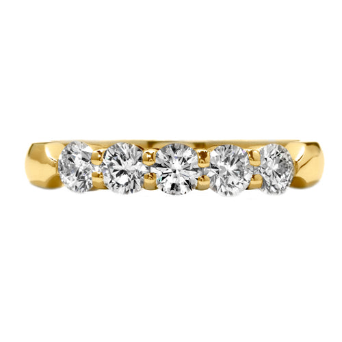Hearts On Fire Five Stone Diamond Wedding Band