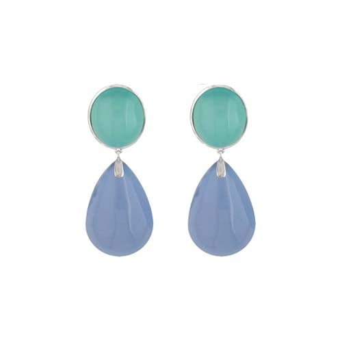 Custom Chalcedony Drop Earrings