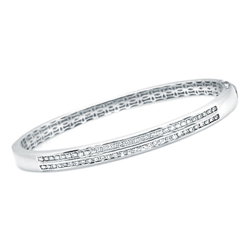 Pre-Owned Double Row Diamond Bangle