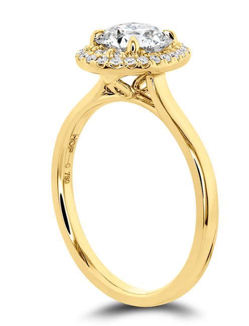 Hearts On Fire Juliette Halo Oval Diamond Engagement Ring