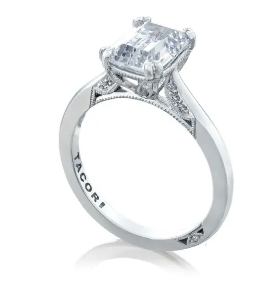 Tacori Simply Bridal Emerald Solitaire Engagement Ring