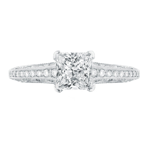 Tacori Classic Crescent Princess Diamond Engagement Ring