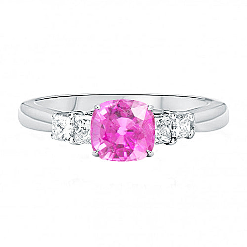 Five Stone Rubellite Gemstone Ring