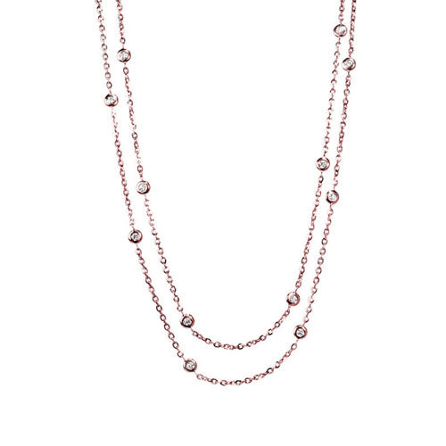 Station Diamond  Necklace