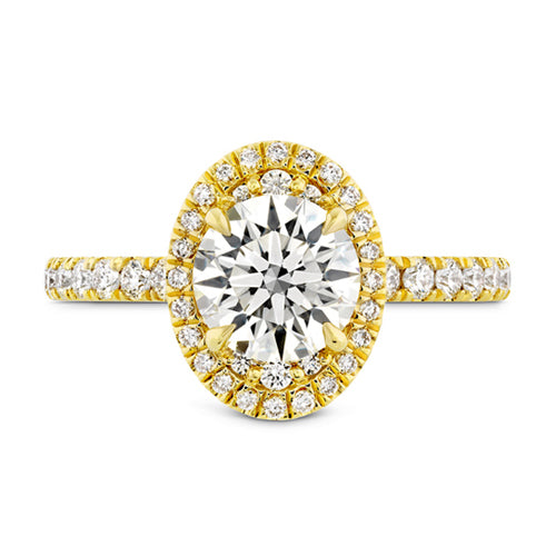 Hearts On Fire Juliette Oval Halo Side Diamond Engagement Ring
