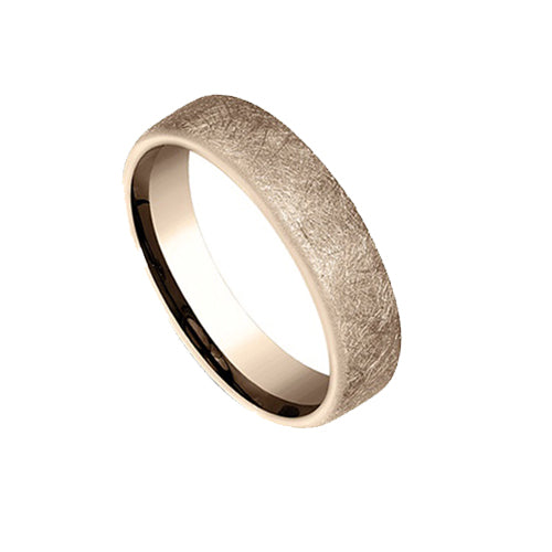 Mens Benchmark Textured Wedding Band