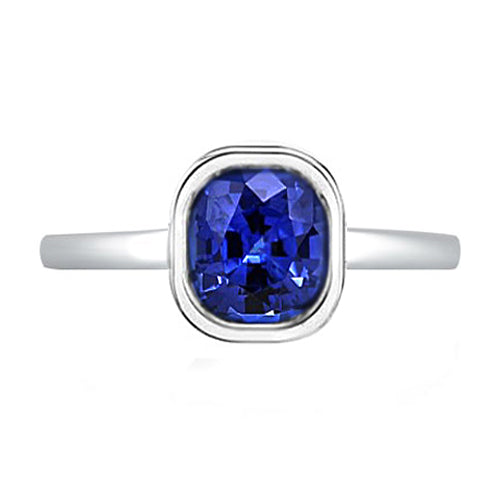 Sapphire Bezel Solitaire Ring