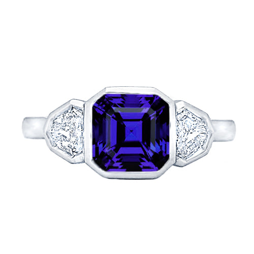 Howard Design Three Stone Tanzanite  Ring