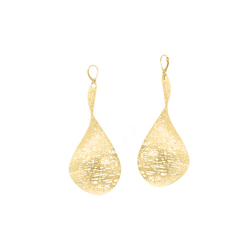 Custom Gold Propeller Drop Earrings