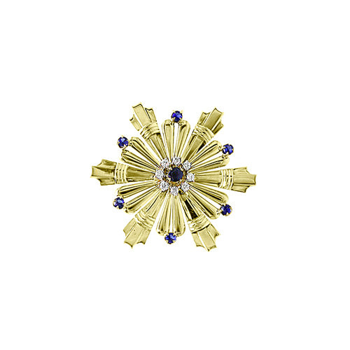 Pre-Owned Sapphire And Diamond Brooch