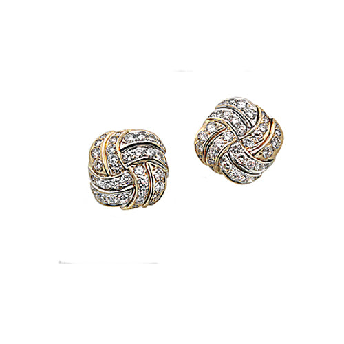Pre-Owned Diamond Cluster Earrings