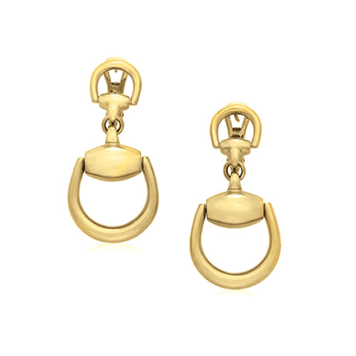 Pre-Owned Gucci Horsebit Earrings