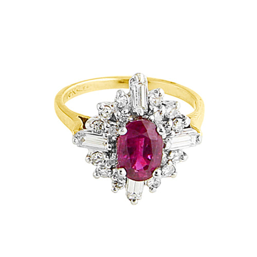 Pre-Owned Ruby Cluster Ring
