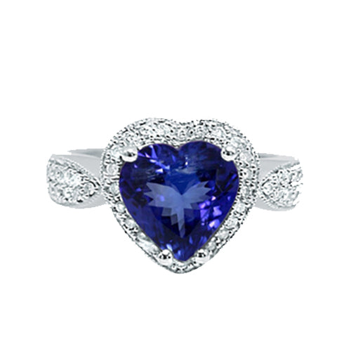 Pre-Owned Heart Tanzanite Ring