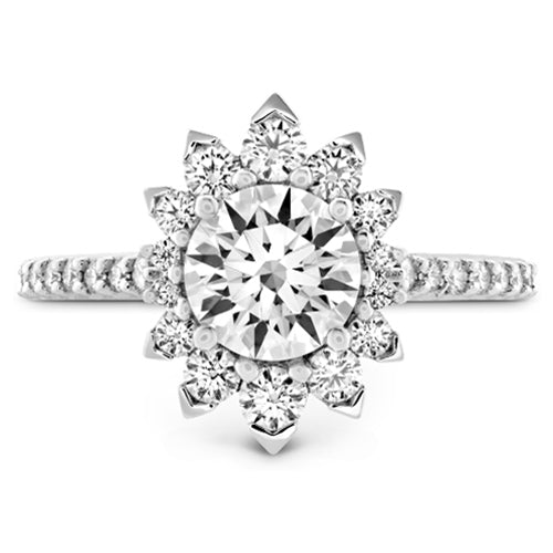 Hearts On Fire Behati Halo Round Diamond Engagement Ring