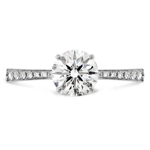 Hearts On Fire Signature Side Diamond Engagement Ring