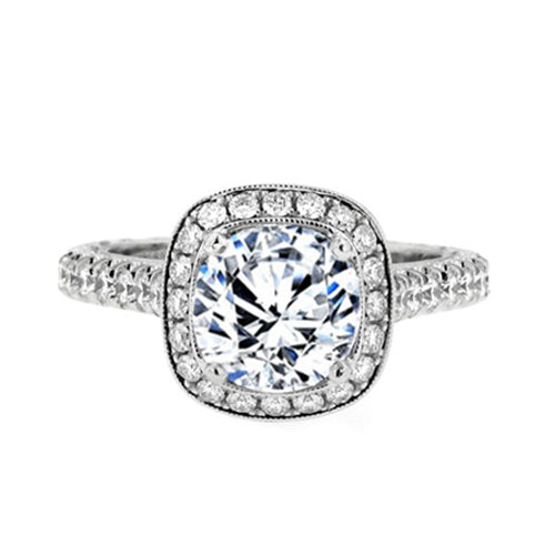 Jack kelege Halo Engagement Ring