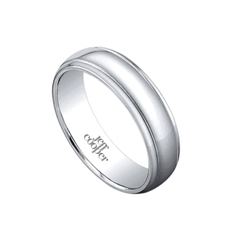 Jeff Cooper Classic Coltrane Mens Wedding Band Ring