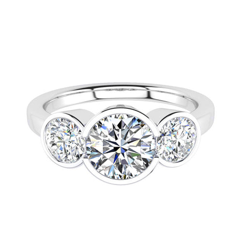 Howard Design Three Stone Engagement Ring