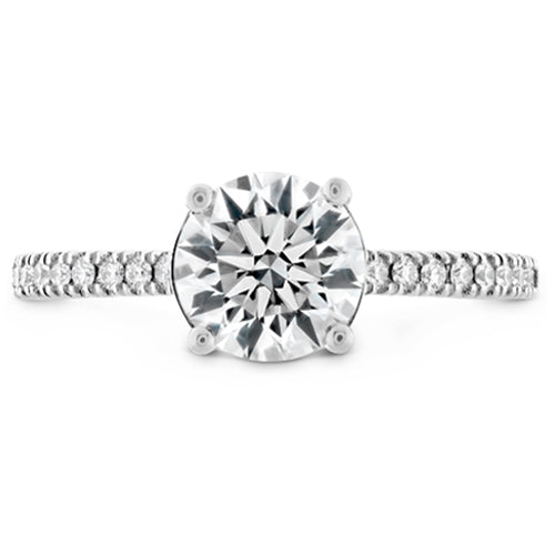 Hearts On Fire Sloane Round Side Diamond Engagement Ring
