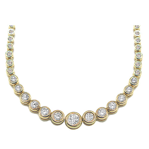 Pre-Owned Diamond Graduated Necklace