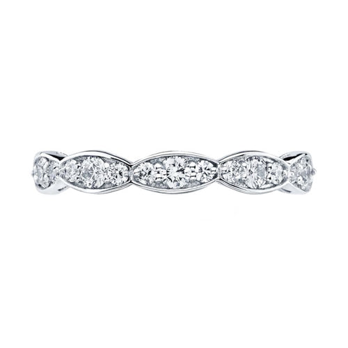 Tacori Sculpted Crescent Diamond Eternity Wedding Band Ring