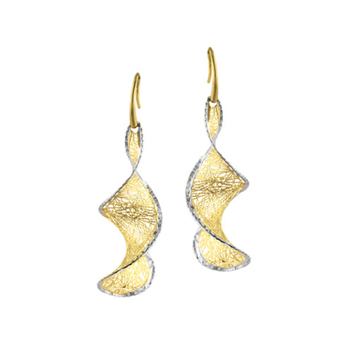 Custom Gold Sprial Drop Earrings