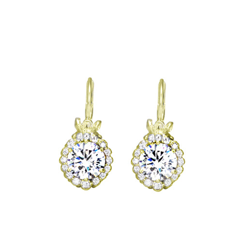 Vahan Diamond Drop Retro Earrings