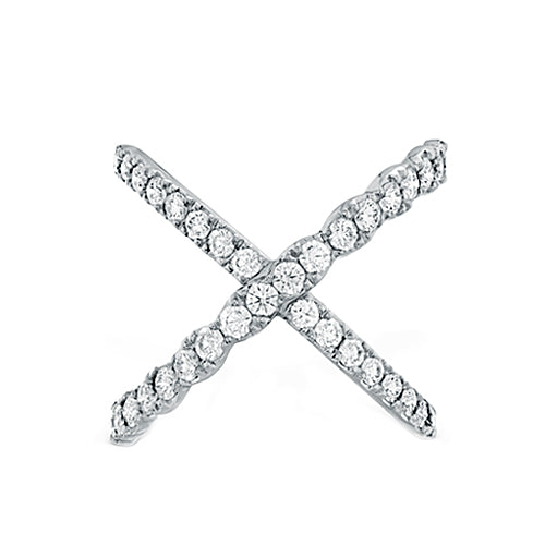 Hearts On Fire Lorelei Criss Cross Diamond Right Hand Band