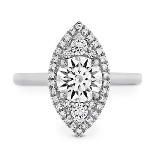 Hearts On Fire Juliette Marquis Halo Round Diamond Engagement Ring