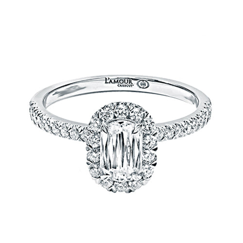 Christopher Designs Halo Diamond Engagement Ring