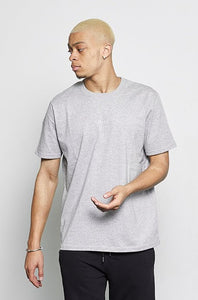 Embroidered T-Shirt in Grey
