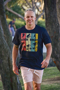 Tropical Beach Rugby T-Shirt - Cully7 Apparel