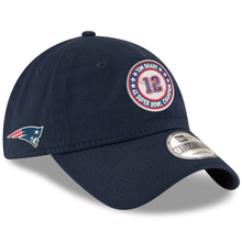 Load image into Gallery viewer, New Era Tom Brady New England Patriots Navy 6-Time Super Bowl Champions GOAT Circle 9TWENTY Adjustable Hat