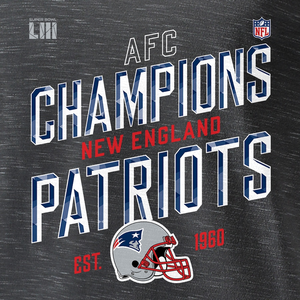 Men's New England Patriots NFL Heather Charcoal Official NFC Champions Collection T-Shirt