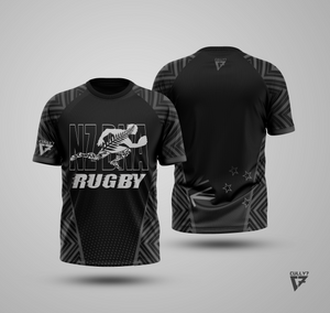 New Zealand Black DNA Rugby Design T-Shirt (TM) - Cully7 Apparel