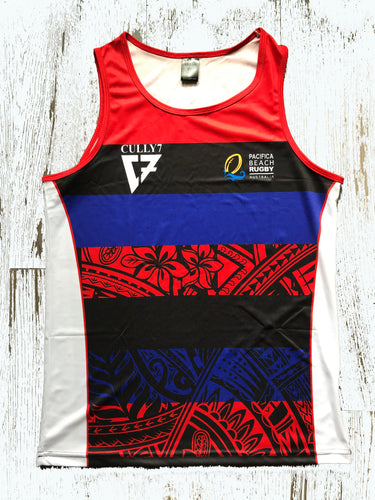 Beach Rugby Australia International Pacifica Team Singlet  (Authentic Design) - Cully7 Apparel