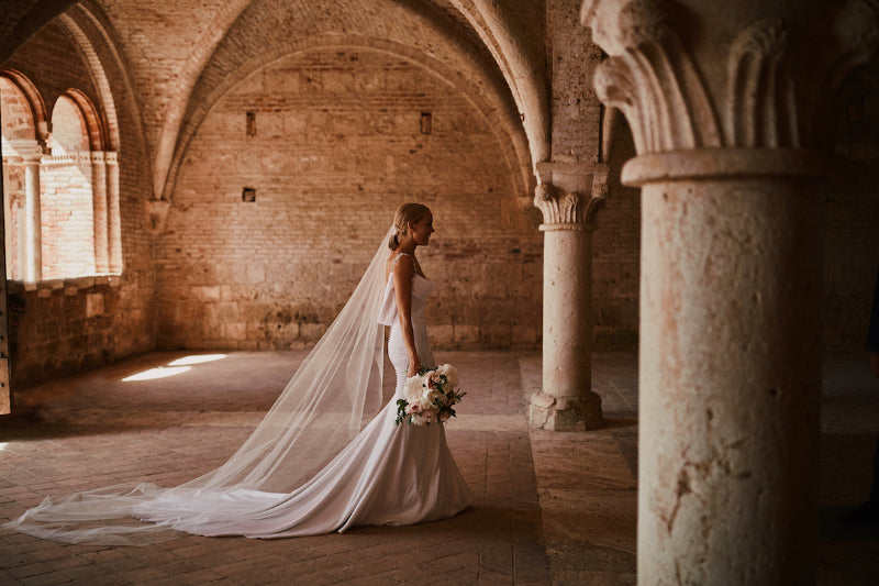 Barely There Wedding Veil | Skylar | Britten Bride | Natalie