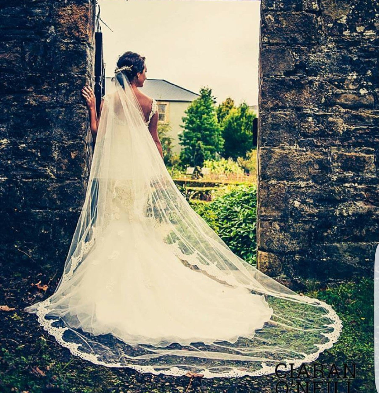 Real Bride | Bespoke Semi Lace Edge Veil