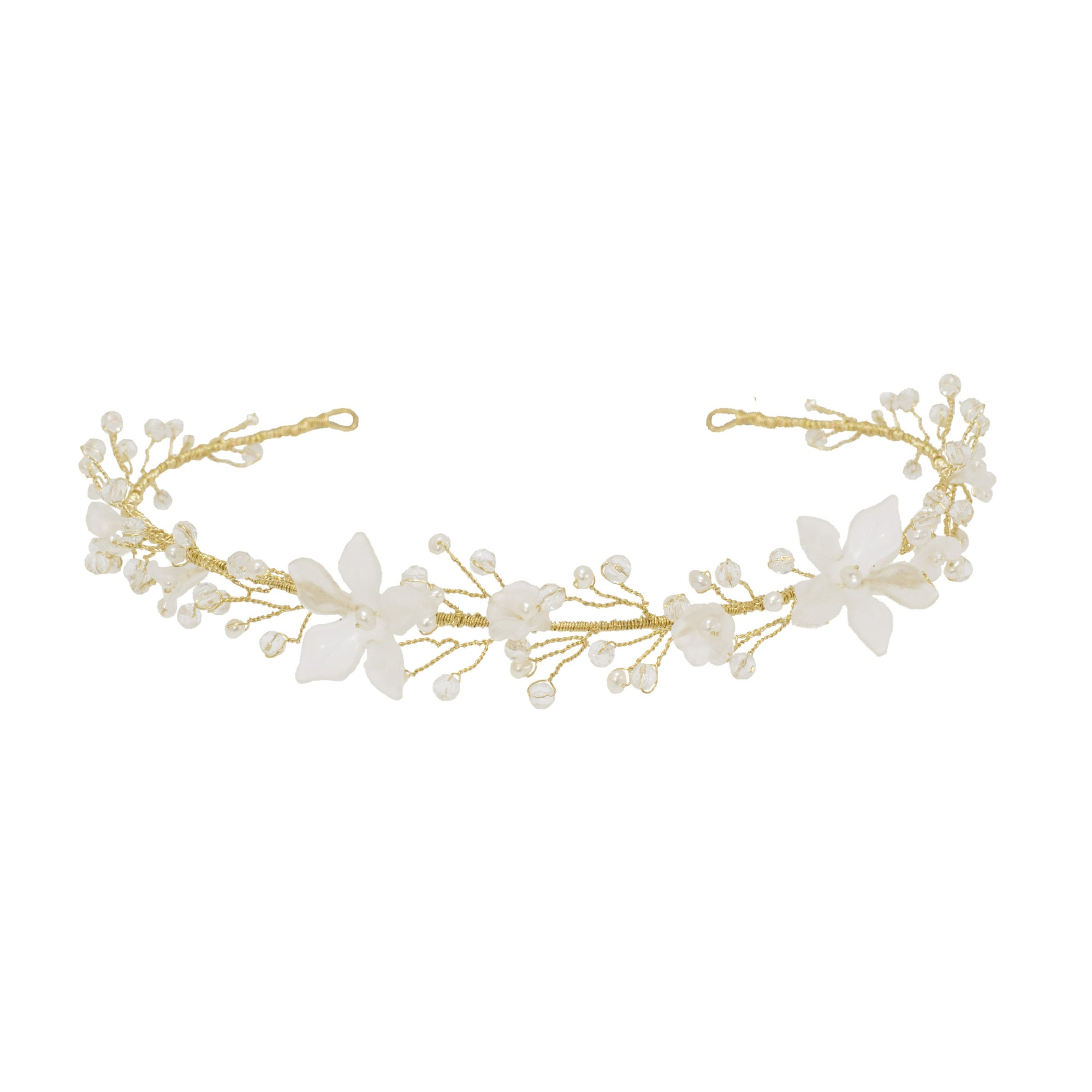 We have just added Delia our everlasting floral hair vine in Gold!