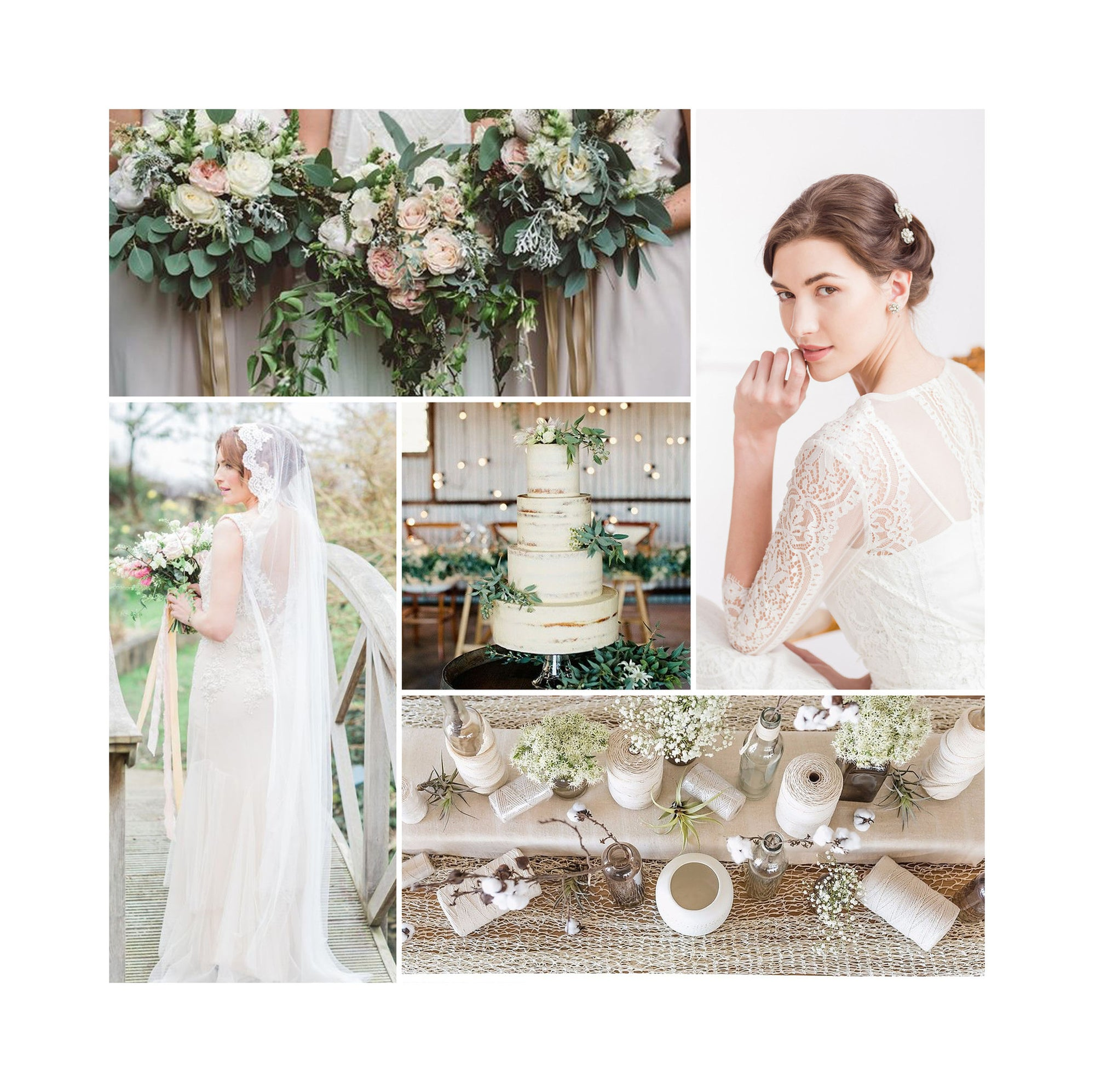 Ivory and pale green wedding inspiration!